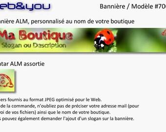 Banner and avatar 'Ladybug' shop