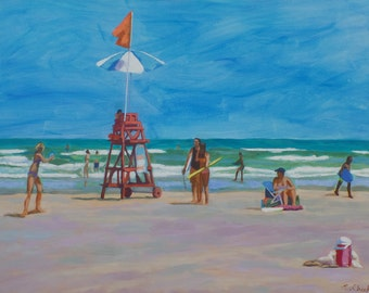 Beach Painting Large Ocean Seascape 36 x 48  Inches Original art  Painting