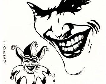 The Joker DC villain art print!