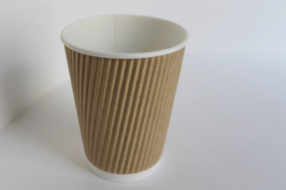 8 Oz Natural Kraft Ripple Hot Or Cold Cup Set Of 50 From