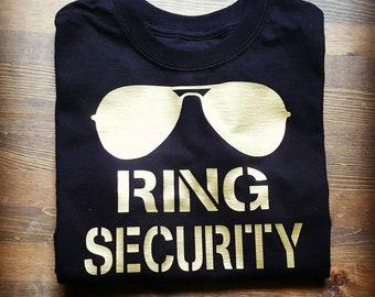 Ring Bearer Gift Ring Security Shirt Wedding Rehearsal Shirt Gold Wedding Ring Bearer Shirt Ring Bearer Proposal Personalized Ring Bearer
