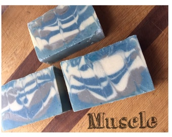 Guy Soap, Soap For Men, Muscle, Mens Soap, Fathers Day Gift, Gift For Dad, Cologne Soap, Cold Process Soap, Soap For Guys