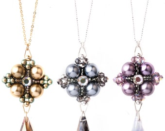 Jewellery Craft Making Kit / Down Town Kleshna Pearl and Swarovski Crystal Necklace