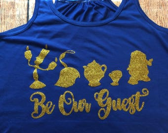 Be Our Guest, Squad Goals, Disney Tank, Run Disney, Beauty and the Beast, Beauty and the Beast Squad Goals, Be Our Guest Tank, Belle