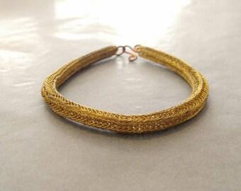 Scandinavian reconstruction braided bracelet