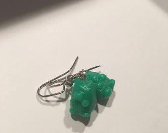 Green Gummi Bear earrings