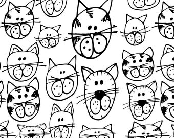 Printable CATS Coloring Page