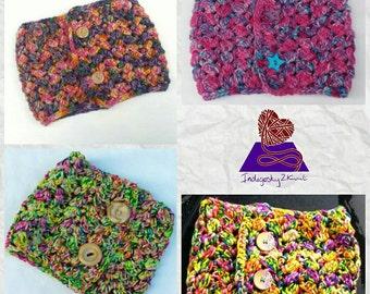 Chunky infinity scarf  **Made to Order** crochet neck warmer, women's wool scarf, crochet cowl neckwarmer, winter woollies, gift for mum