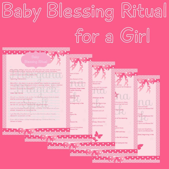 Baby Girl Blessing Wiccaning Ritual