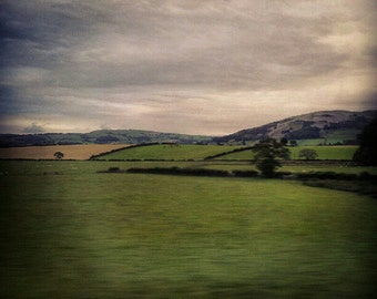 Landscape miniature photography - UK Green Countryside