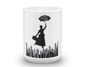 Popppins Just a Spoonful of Sugar Over London Mug