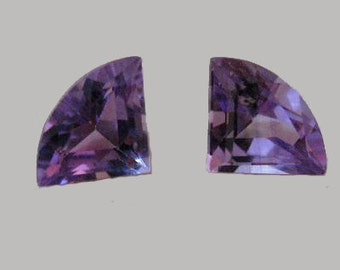 2 Pcs - 10x10mm Natural Amethyst Gemstones Trillion Cut (AMT10TR)