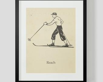 Skiing Skier Print Reach