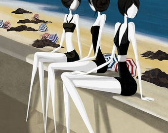 Sunbathing - 11x8 or 16,5x11 inches fine art print - Signed - Print by a professional