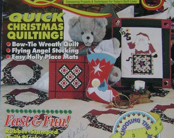Quick & Easy Quilting Instruction Magazine - December 1993