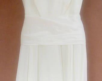 Beautiful 1970s woman's bridesmaid dress, cruise, bride, Ivory lace and chiffon