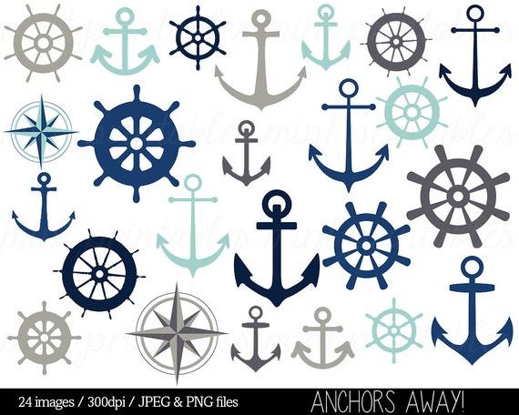 Anchor Clipart Clip Art Nautical Clipart Helm Clipart