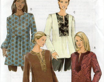 Butterick Fast & Easy Pattern 4856 TOPS TUNICS  Misses Sizes Xsm Sml Med