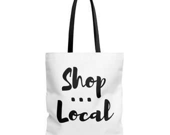 Shop Local Tote Bag - Farmers Market Bag - Grocery Tote | reusable groceries shopping bags