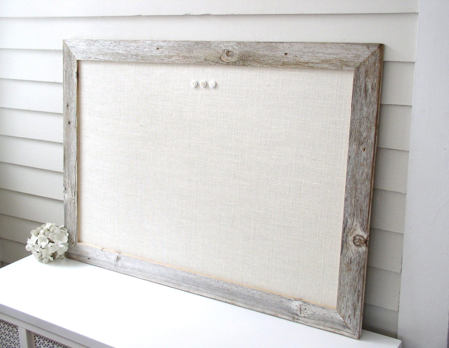 Barnwood Frame MAGNETIC Bulletin Board Reclaimed Recycled