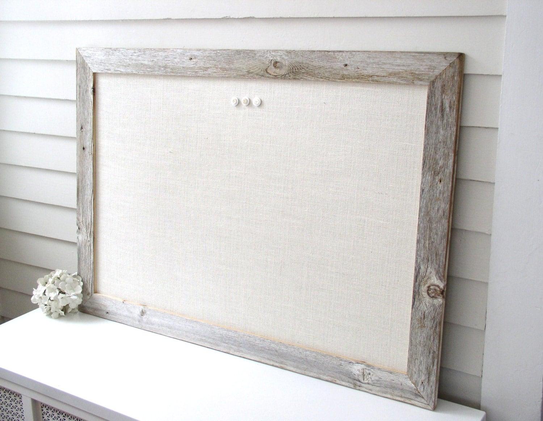 Barnwood Frame MAGNETIC Bulletin Board Reclaimed Recycled