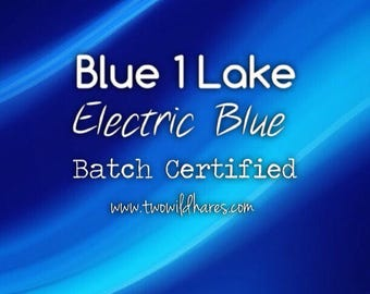 ELECTRIC BLUE LAKE Fd&c Blue 1 Lake, 41% High Dye Load, Batch Certified, Powdered Cosmetic Colorant