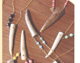 Custom Antler Tip Necklace