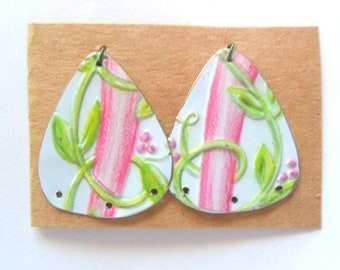 Upcycled Jewelry Tin Earring Findings Pair