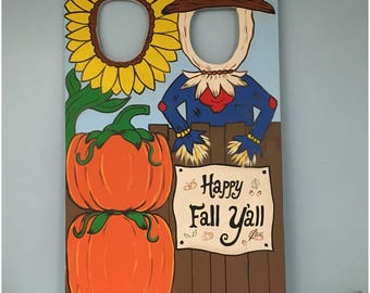 Fall Birthday Photo Booth Prop Wooden, Personalized Scarecrow Pumpkin Patch  Photo Op, Fall Outdoor