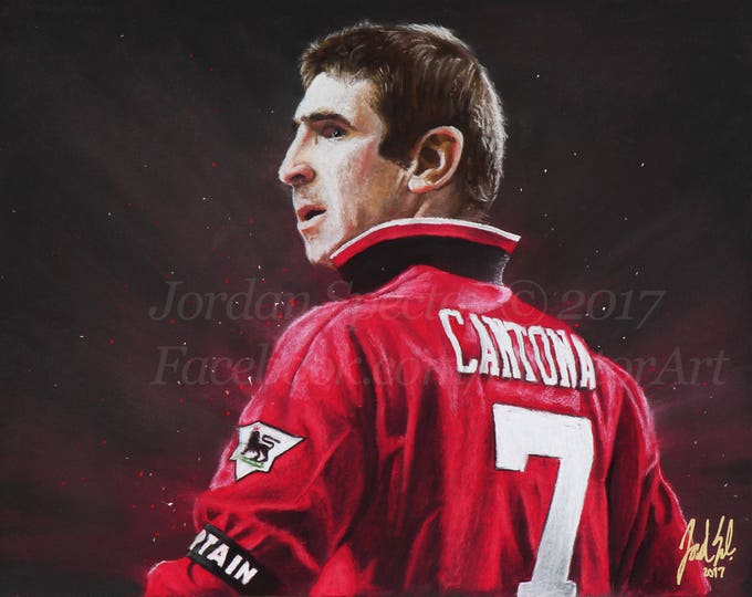 """Eric Cantona """"The King"""" open edition art print - 16x20 inches"""