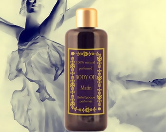 100% Natural eco-friendly  Perfumed Body Oil. Fresh floral-citric- green fragrance . Moisturizing & Refirmant.  3.3 oz (100ml). Home SPA