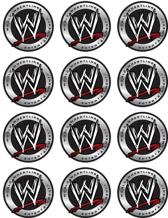 Wwe Logo Edible Cake Image