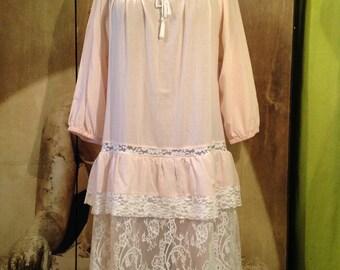 Dress Shabby pink powder T 40-42