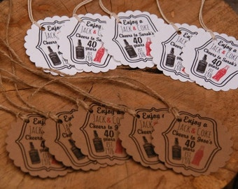 Jack & Coke Favor Tags. Rum and Coke Favor Tags.