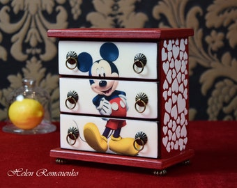 Mickey minnie box Etsy