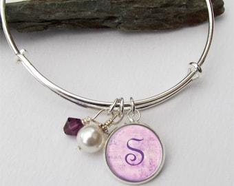 Personalized Bridesmaid Bracelet, Bridesmaid Gift, Color Coordinated Bracelets