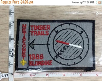 10%OFF3DAYSALE Vintage 1988 Boy Scouts Of America Metacomet Timber Trails Klondike Patch Used