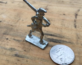 18th Century Pewter Toy Soldier - Soldier Marching