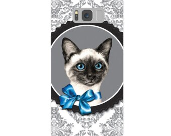 Siamese cat mobile case, kitten flexible phone case, cat flexi iPhone case, soft kitten iphone case, siamese cat mobile case, cat device