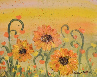 DIY Canvas Painting Kit for All Ages - Sunflowers