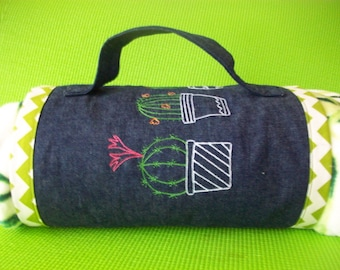 Cactus Picnic Carrier and Blanket