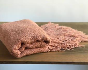 Pink Bouche Afghan Throw Blanket