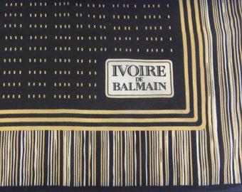 "Vintage Foulard ""Ivoire de Balmain"" Scarf by BALMAIN, Advertising Parfume"