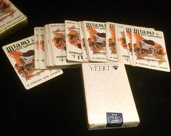 Playing Cards, Delta Airlines, Airways Souvenir, Miami Fort Lauderdale