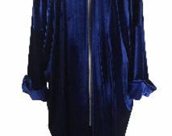Baylis and Knight Blue Velvet  Duster Coat Opera