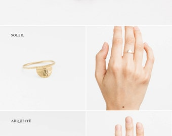 Arcs Collection Stacking Rings • Dainty Stacking Rings • Minimal Stacking Rings • Boho Stacking Rings • Arcs Collection by Layered and Long