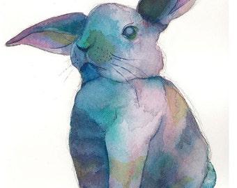 PRINT - Why So Blue, Rabbit