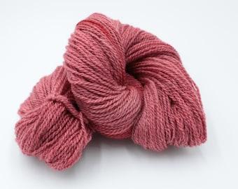 Hand Dyed DK BFL Masham Wool Yarn - Carnation