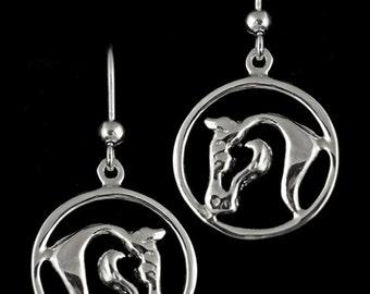 Sedona Horse Earrings, Horse Head Earrings, Noble Horse Earrings, Equestrian Earrings, Horse Jewelry, Horse Head Jewelry