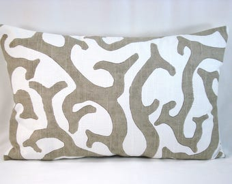 P Kaufmann Coral Reef Lumbar Pillow Cover Nautical Lumbar 20x13 Pillow Cover